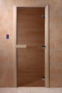Дверь для саун бронза
