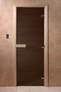Дверь для саун черный жемчуг